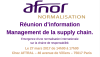 Réunion d'information Management de la supply chain - AFNOR