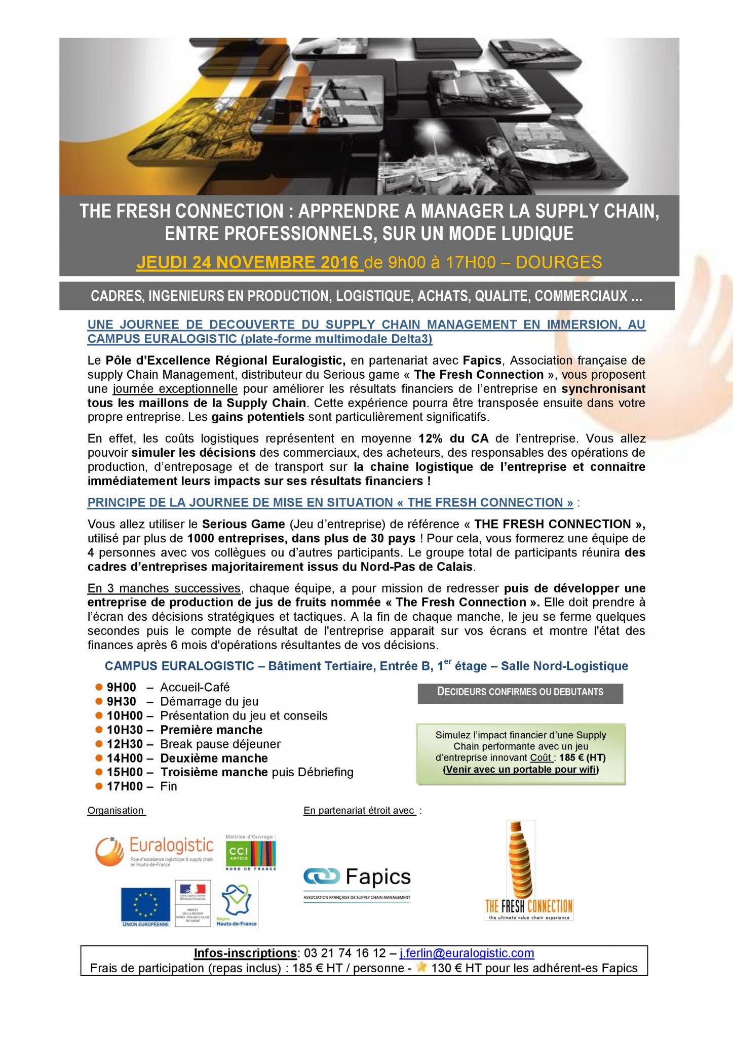 INVITATION JOURNEE SPECIALE SUPPLY CHAIN EURALOGISTIC_NOV2016
