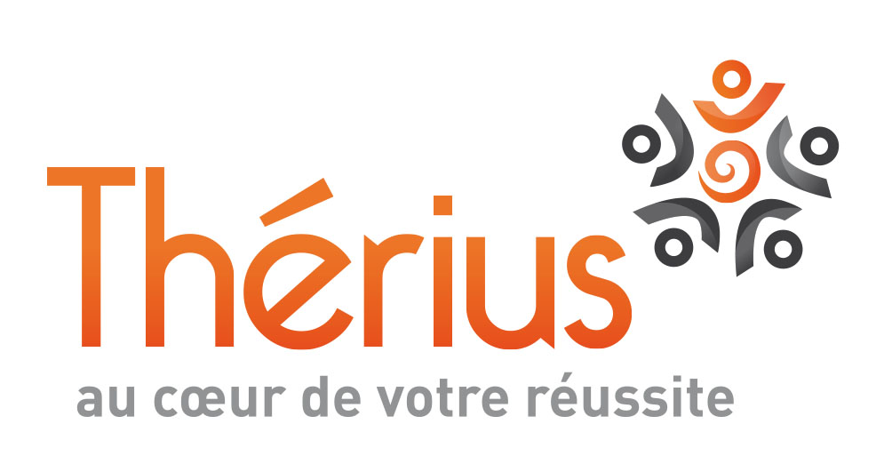 THERIUS logo baseline coeur