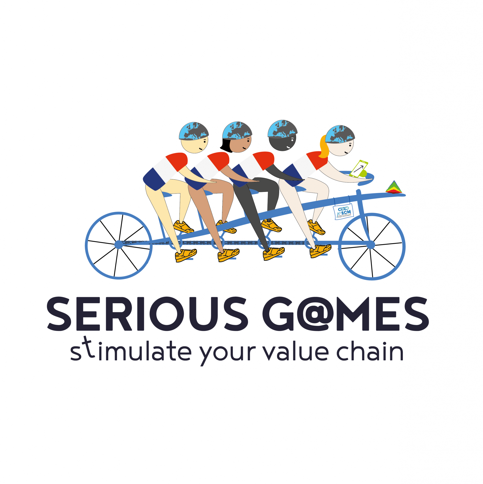 logo serious game the blue connection